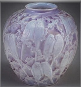 Purple Cased Lovebirds Vase